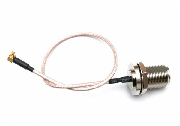 Pigtail N-F / MMCX 0.25m kábel RG174 pre miniPCI