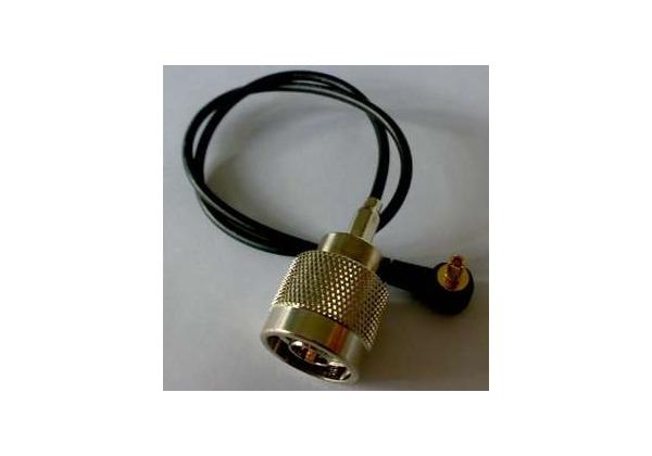 Pigtail mini PCI 0,2m MMCX-M / N-Male, MMCX-rohový